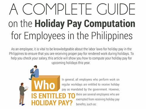 Guide on Holiday Pay Computation in the Philippines-min