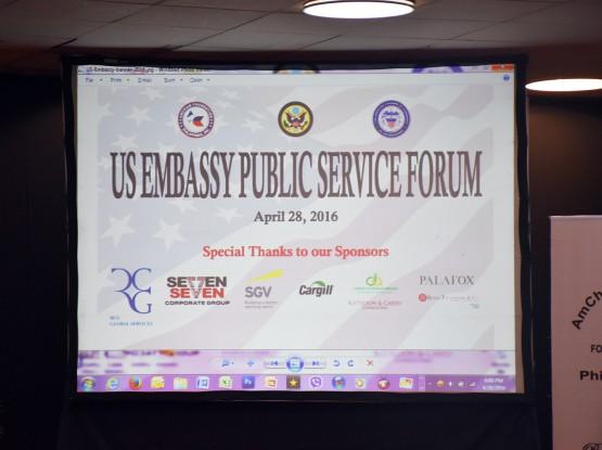 US Embassy Public Service Forum