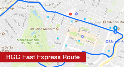 BGC East Express Route