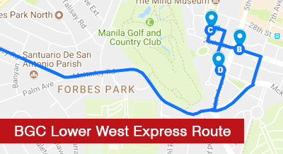 BGC Lower West Express Route