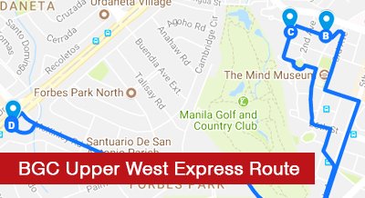BGC Upper West Express Route