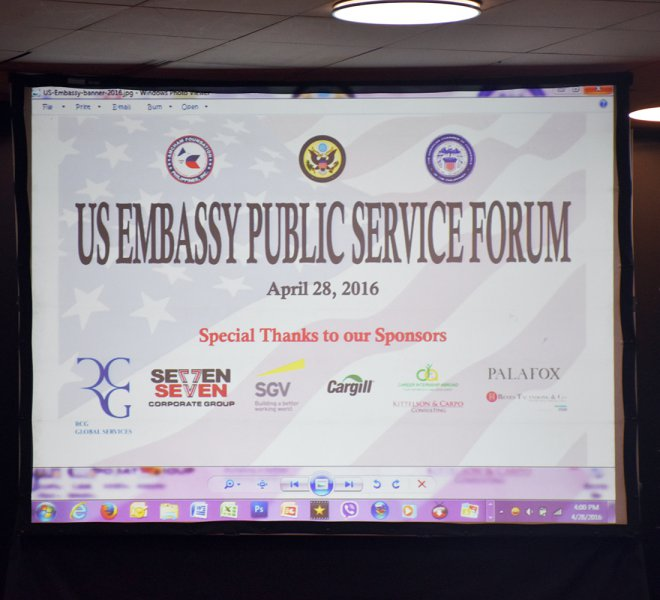 US Embassy Public Service Forum