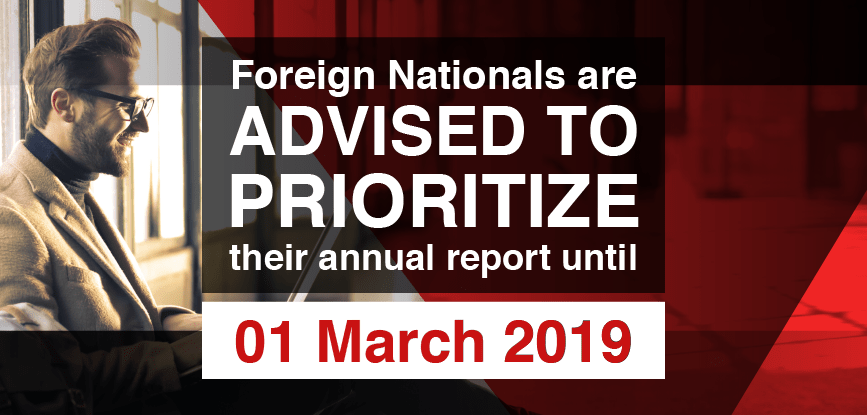 2019 Annual Reporting for Foreign Nationals in PH