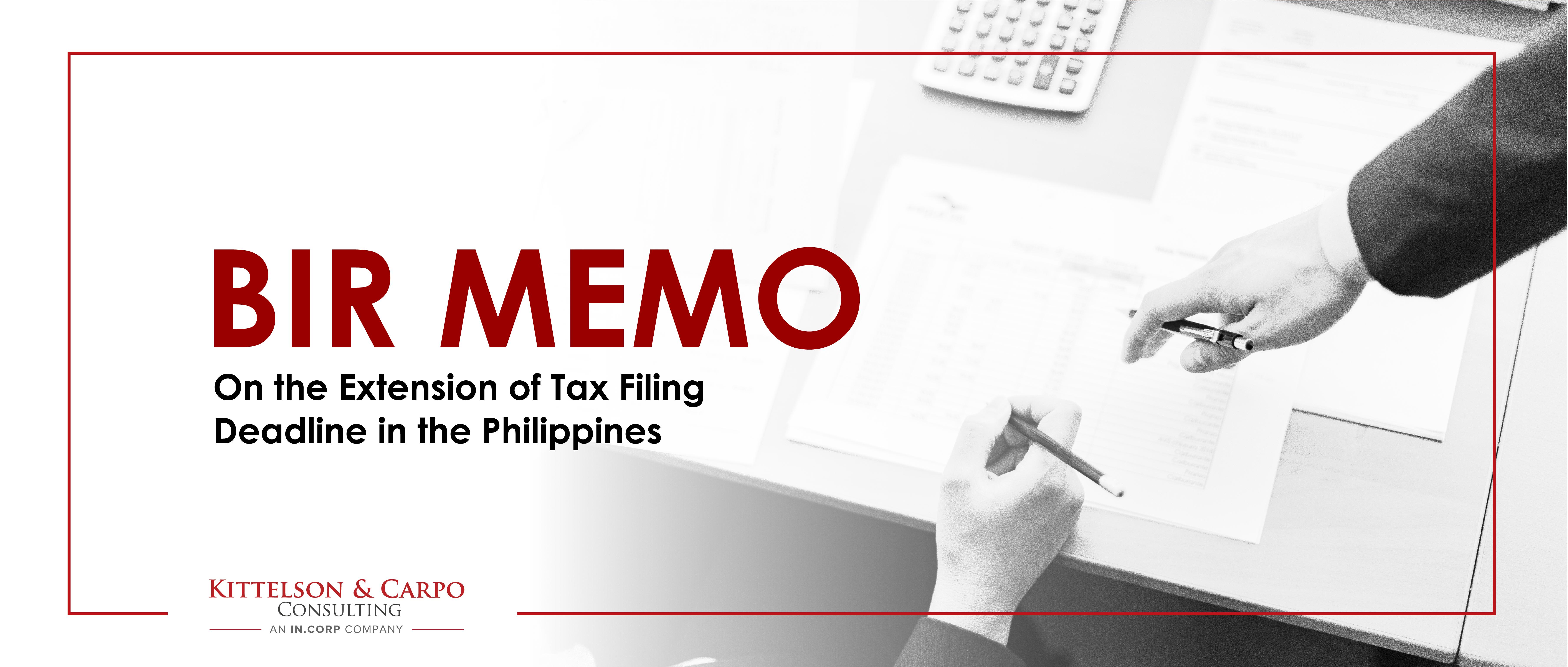 BIR Tax Filing Deadline Philippines