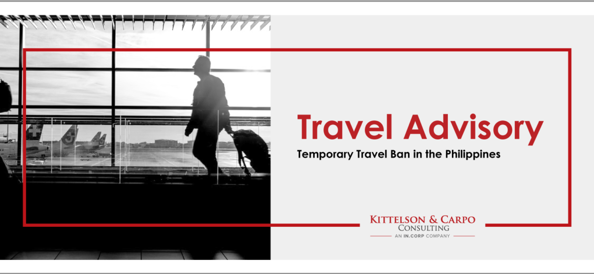 Travel Advisory Travel Ban Philippines