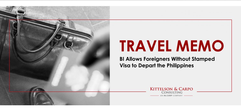 Stamped Visa Philippines