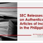 SEC Incorporation Philippines