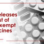 VAT Exempt Medicines