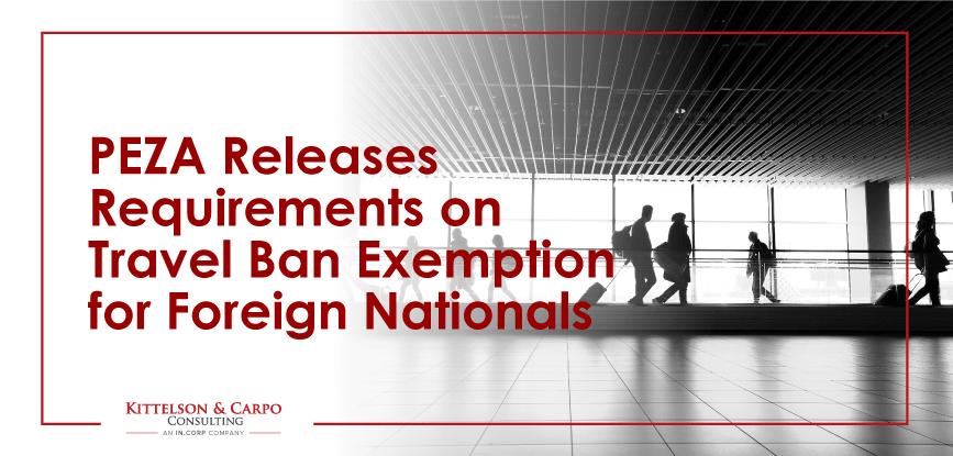 PEZA Travel Ban Exemption