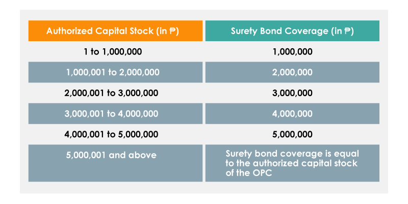 Authorized Capital Stock and Surety Bond Coverage