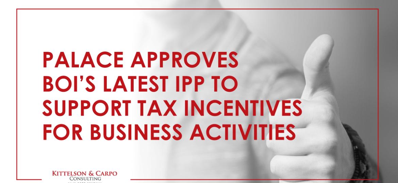 IPP Tax Incentives