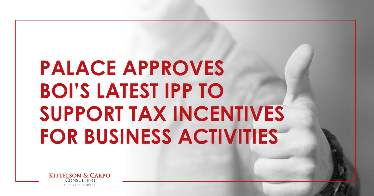 IPP Tax Incentives