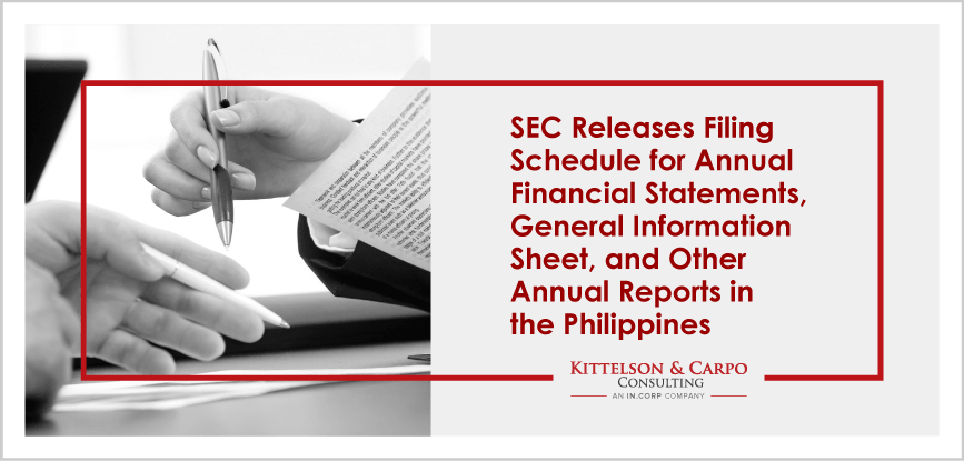 SEC Filing Schedule Annual Report