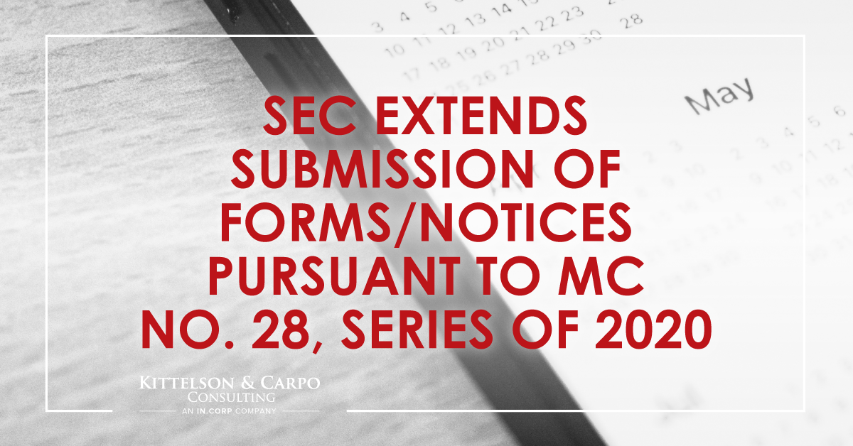 SEC Extends Submission of Forms